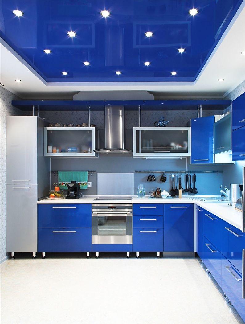 Стилистическое оформление кухни и натяжные потолки